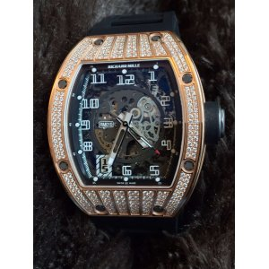 Richard Mille [NEW+RARE] RM 010 Rose Gold Med Set Pave Diamond Watch - SOLD!!