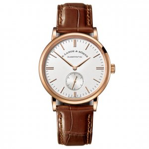 A. Lange & Söhne [NEW] Sonhne Saxonia Silver Dial 18K Rose Gold Men's Watch 219.032 (Retail:EUR15000)