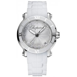 Chopard 全新 278551-3001 HAPPY SPORT 36 MM WATCH STAINLESS STEEL AND DIAMONDS LADIES