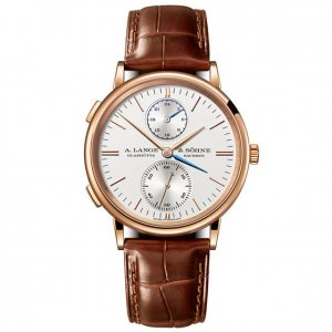 A. Lange & Sohne [全新] 386.032 Saxonia Dual Time 38.5mm Mens Watch (Retail:EUR 27.300)