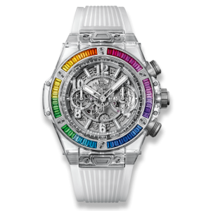Hublot [NEW][LIMITED 50][限量50支] Big Bang UNICO 411.jx.4803.rt.4099 Sapphire Rainbow (Retail:US$84,000) - SOLD!!
