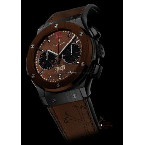 Hublot [全新][限量250] 521.CC.0589.VR.OPX14 Classic Fusion Chronograph Black Brown Ceramic (Retail:US$15,800)