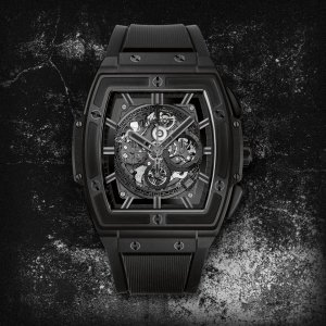 HUBLOT [NEW] Spirit of Big Bang All Black Skeleton Ceramic 601.CI.0110.RX (Retail:HK$197,800)