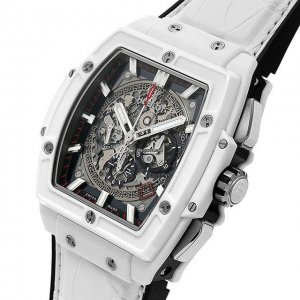 HUBLOT [全新] 601.HX.0173.LR  Spirit of Big Bang Skeleton Dial White Ceramic Chronograph (Retail:US$28,600)