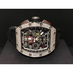 Richard Mille [NEW][RARE] RM 011 White Gold Diamond (Retail:USD$205,000) - DISCONTINUED!!