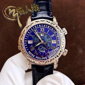 Patek Philippe [2017 NEW] Grand Complications Sky Moon Tourbillon 6002G Blue Dial Watch