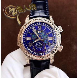 Patek Philippe [2014 NEW] Grand Complications Sky Moon Tourbillon 6002G Blue Dial