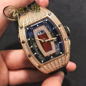 Richard Mille [NEW] RM 037 Rose Gold Med Set Diamonds Ladies Watch