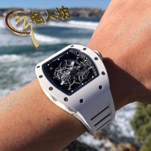 Richard Mille [2018 LIKE NEW] RM 055 Bubba Watson White Ceramic Mens Watch