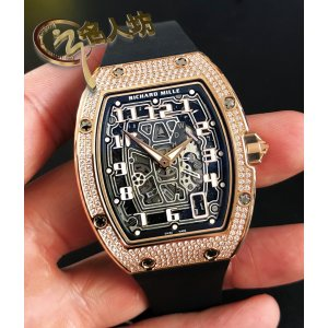 Richard Mille [NEW] RM 67-01 Rose Gold Full Set Diamonds Automatic Ultra Flat Ladies