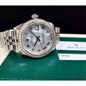 Rolex [NEW] Datejust 31mm Stainless Steel 178384 White MOP VI Roman Jubilee