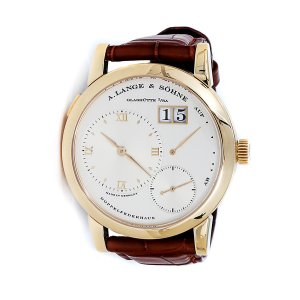 A Lange and Sohne 全新101.021 Lange 1 Champagne Dial 18kt Yellow Gold Men's Watch
