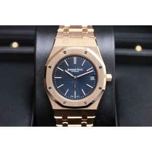 AUDEMARS PIGUET [NEW] Extra-Thin Royal Oak Automatic Blue Dial RG 15202OR.OO.1240OR.01 (Retail:HK$399,000)