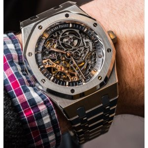 Audemars Piguet [NEW][RARE] Royal Oak Double Balance Wheel Openworked Mens Watch