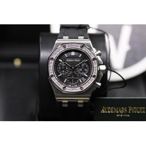 Audemars Piguet [NEW] Royal Oak Offshore Chronograph 37mm Ladies Black Dial 26231st.zz.d002ca.01