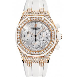 AUDEMARS PIGUET [NEW] Royal Oak Offshore Diamond Chronograph 18 kt Rose Gold Ladies Watch (Retail:HK$714,000)