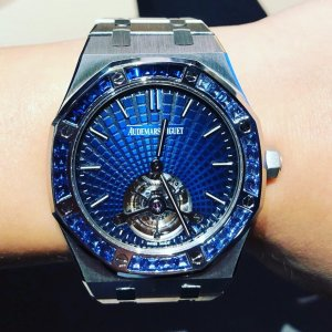 Audemars Piguet [NEW] Royal Oak Ultra Thin Tourbillon Platinum Smoked Blue Evolutive 26521PT.YY.1220PT.01