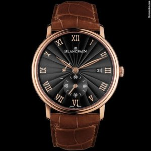 Blancpain [NEW] Villeret Small Seconds Date & Power Reserve Mechanical 6606-3630-55B (Retail:HK$154,000)