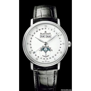 BLANCPAIN [NEW] VILLERET STAINLESS STEEL WHITE AUTOMATIC 6263-1127-55B (Retail:HK$98,000)