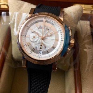 Breguet [NEW] Marine Chronograph 5827BR/12/5ZU Silver Dial Mens Watch