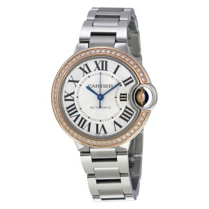 CARTIER [NEW] Ballon Bleu 33mm Diamond Ladies Watch WE902080 (List Price HK$108,000)