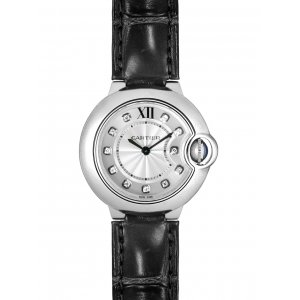 CARTIER [New] Ballon Bleu Silver Diamond Dial W4BB0008 (List PriceHK$42,500)