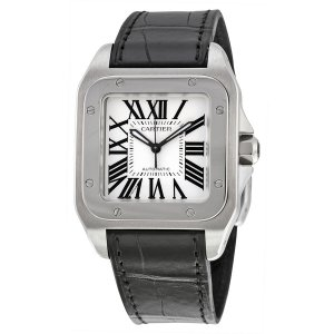CARTIER [NEW] Santos 100 Stainless Steel Medium Watch W20106X8 (Retail:HK$47,400)