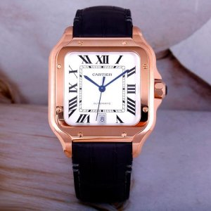 CARTIER [NEW] Santos De Large Automatic Silver Dial Mens WGSA0011