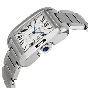 CARTIER [NEW] Tank Anglaise Silver Dial Mens Watch W5310009 (Retail:HK$47,600)