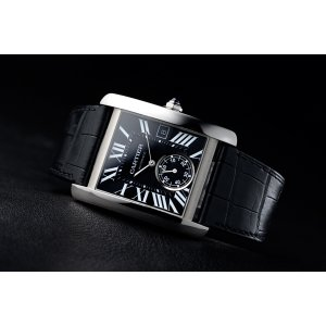 Cartier [NEW] Tank MC Automatic Black Dial Black Leather W5330004 (Retail:HK$50,500)