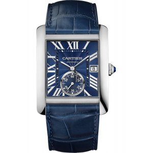 CARTIER [NEW] Tank MC Blue Dial Stainless Steel WSTA0010 (Retail:HK$52,500)