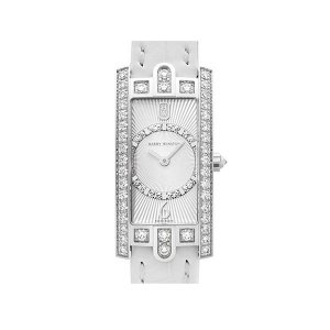 Harry Winston [NEW] Avenue C Art Deco quartz 18K white gold timepiece white light partially AVCQHM19WW129