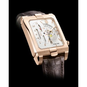 Harry Winston [NEW] Avenue Dual Time automatic 18K rose gold timepiece AVEATZ37RR001