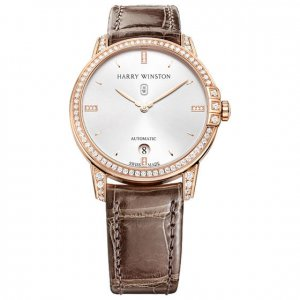 Harry Winston [NEW] Midnight 36mm automatic 18K rose gold timepiece white light indexes set dial MIDAHD36RR001