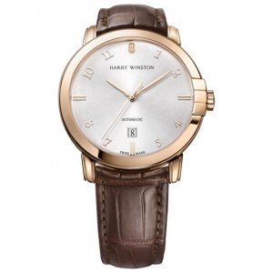 Harry Winston [NEW] Midnight 42mm automatic 18K rose gold timepiece white light dial MIDAHD42RR002