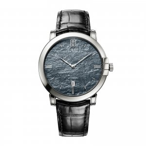 Harry Winston [NEW] Midnight 42mm automatic 18K white gold timepiece black dark dial MIDAHD42WW003