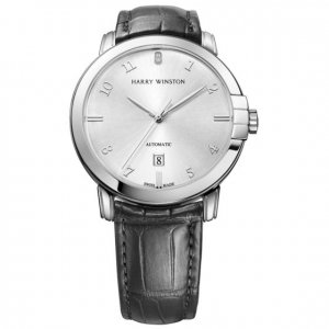Harry Winston [NEW] Midnight 42mm automatic 18K white gold timepiece white light dial MIDAHD42WW004