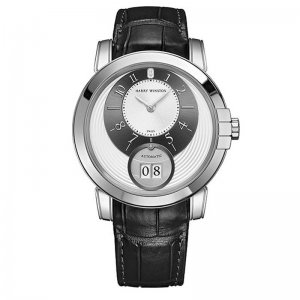 Harry Winston [NEW] Midnight Big Date automatic 18K white gold MIDABD42WW001