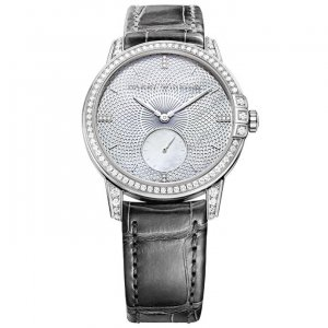Harry Winston [NEW] Midnight Infinity 36mm automatic 18K white gold timepiece white light mother of pearl indexes set dial MIDASS36WW001