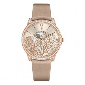 Harry Winston [NEW] Midnight Moon Phase quartz 18K rose gold timepiece white light indexes MIDQMP39RR001