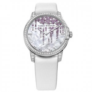 Harry Winston [NEW] Midnight Stalactites 36mm automatic 18K white gold white light mother of pearl partially MIDAHM36WW001