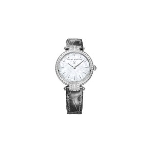 Harry Winston [NEW] Premier 31mm quartz 18K white gold timepiece white light mother of pearl partially set dial PRNQHM31WW001