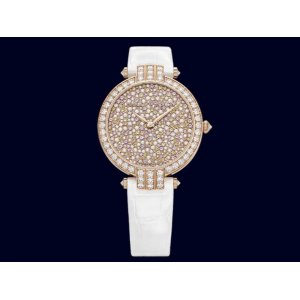 Harry Winston [NEW] Premier Blooming Snow 36mm limited edition automatic 18K rose gold timepiece fully set dial PRNAHM36RR011