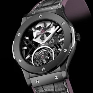 Hublot [NEW][LIMITED 155] Classic Fusion Tourbillon Skeleton Guga Kuerten 505.CS.0120.LR.GUG15 (Retail:CHF 109,900)