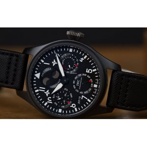 IWC [NEW] Big Pilot's Watch Perpetual Calendar TOP GUN IW502902 (Retail:HK$285,000)