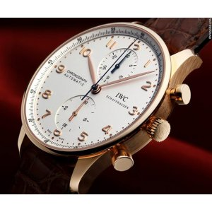 IWC [NEW] Portugieser Chronograph Rose Gold IW371480 (Retail:HK$129,000)