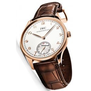 IWC [NEW] Portugieser Hand Wound Pink Gold IW545409 (Retail:HK$149,000)