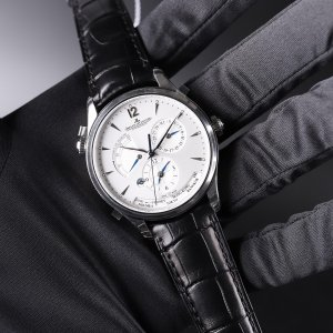Jaeger-Lecoultre [NEW] Master Geographic Silver Dial Black Leather MensQ1428421 (Retail:HK$87,000)