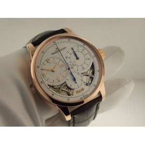 Jaeger LeCoultre [NEW] Q6012521 Silver Dial 18kt Rose Gold Brown Leather Duometre A Chronographe (Retail:HK$342,000)