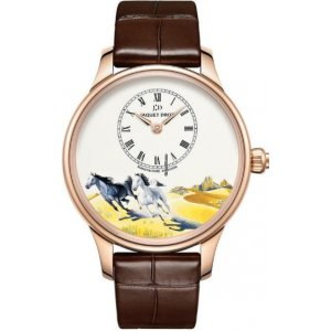 JAQUET DROZ [NEW][LIMITED EDITION 88 PIECE][全新限量88支] PETITE HEURE MINUTE HORSES J005013204 (Retail:CHF 29000)